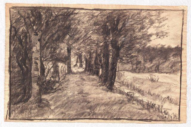 Lane through the Woods by Theodore Clement Steele (1847-1926, United States) | ArtsDot.com