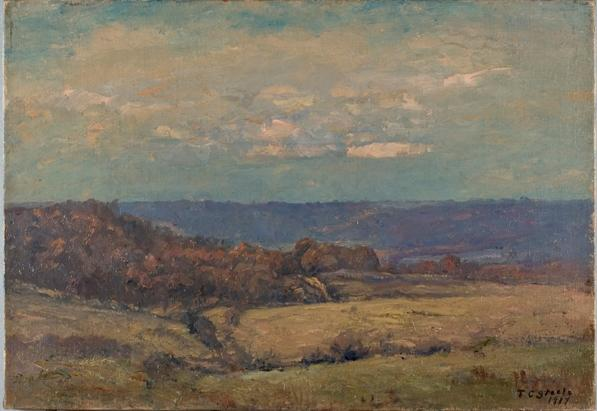 Late Autumn in the Valley by Theodore Clement Steele (1847-1926, United States)
