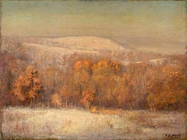 Late November Morning by Theodore Clement Steele (1847-1926, United States) | ArtsDot.com