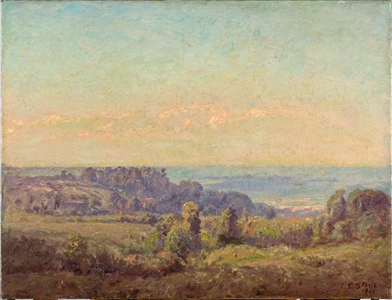 Looking Toward the Valley by Theodore Clement Steele (1847-1926, United States)