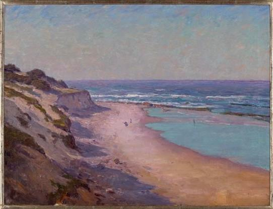Buy Museum Art Reproductions | Low Tide on the Oregon Coast by Theodore Clement Steele (1847-1926, United States) | ArtsDot.com