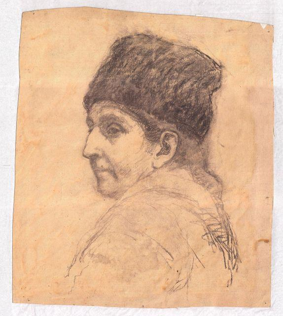 Order Museum Quality Copies | Man wearing hat by Theodore Clement Steele (1847-1926, United States) | ArtsDot.com