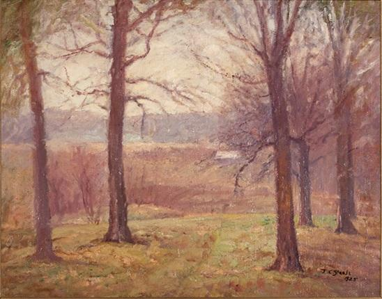 Misty Spring Morning by Theodore Clement Steele (1847-1926, United States)