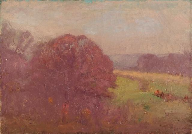 Morning in Early Autumn (Oaks in Autumn) by Theodore Clement Steele (1847-1926, United States) | ArtsDot.com