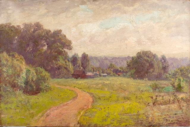Morning in the Valley by Theodore Clement Steele (1847-1926, United States)