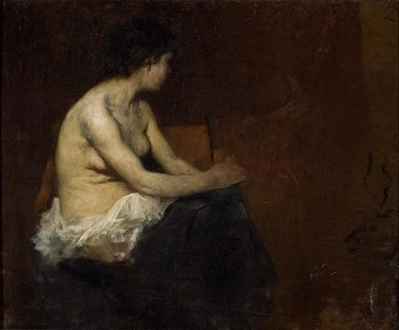 Munich Painting of Nude by Theodore Clement Steele (1847-1926, United States) | Museum Art Reproductions | ArtsDot.com