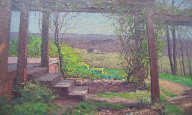 Pergola in Early Spring by Theodore Clement Steele (1847-1926, United States)
