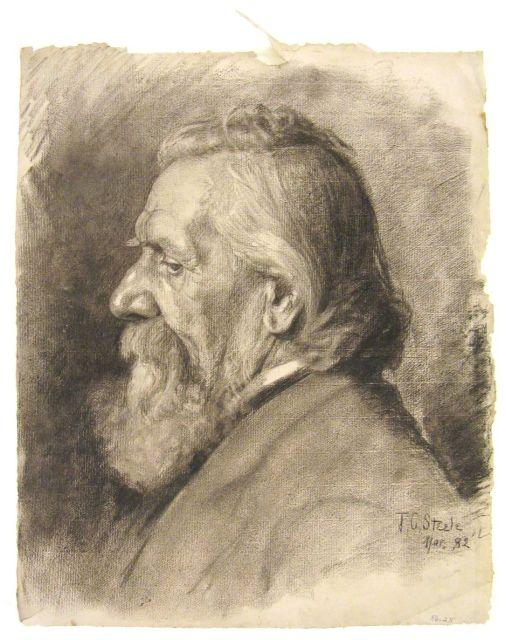 Portrait of an elderly man 2 by Theodore Clement Steele (1847-1926, United States)