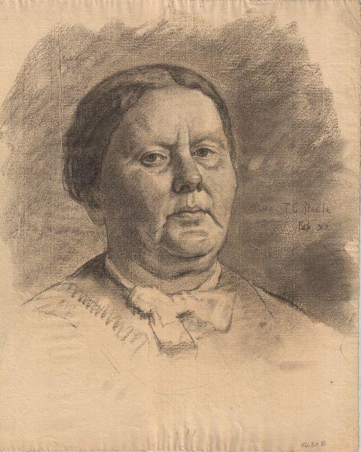 Portrait of an unknown woman by Theodore Clement Steele (1847-1926, United States) | ArtsDot.com