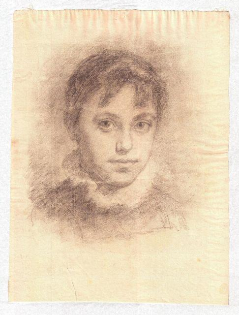 Portrait of young girl by Theodore Clement Steele (1847-1926, United States)