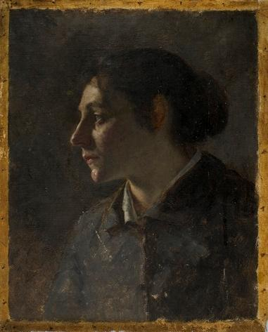 Portrait Study of Young Munich Woman by Theodore Clement Steele (1847-1926, United States) | ArtsDot.com