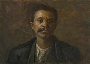 Theodore Clement Steele - Portrait Study. A Black Man