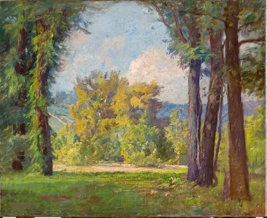 Radiant Day in Late Summer (Mid-Summer) by Theodore Clement Steele (1847-1926, United States)