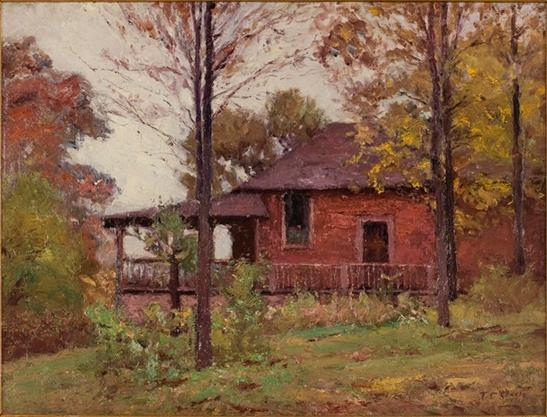 Rainy Day, The Home by Theodore Clement Steele (1847-1926, United States) | Museum Quality Reproductions | ArtsDot.com
