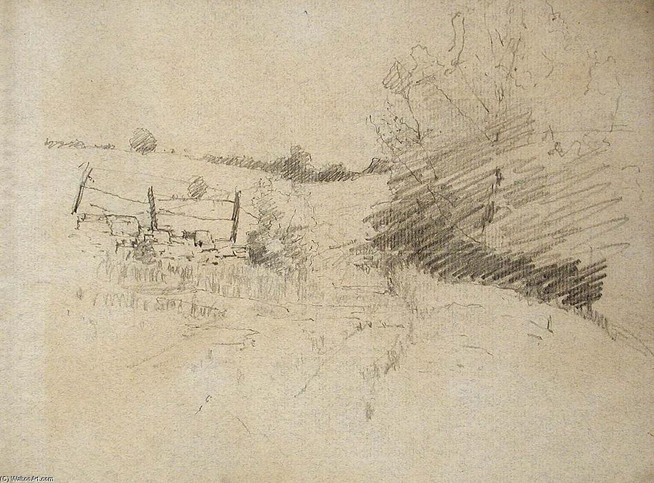 Road and Barbed Wire Fence by Theodore Clement Steele (1847-1926, United States)