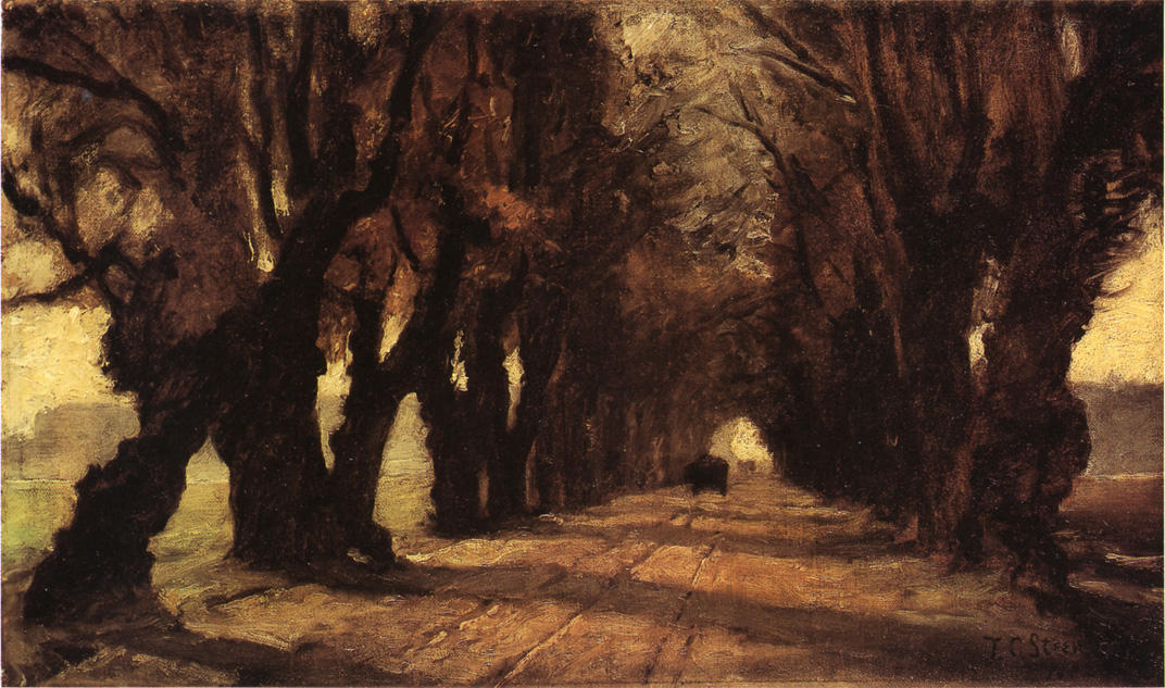 Road to Schleissheim, Oil On Canvas by Theodore Clement Steele (1847-1926, United States)