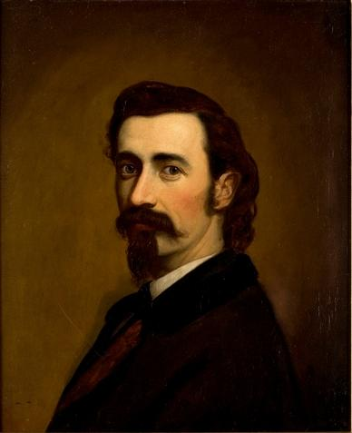 Self Portrait by Theodore Clement Steele (1847-1926, United States) | Oil Painting | ArtsDot.com