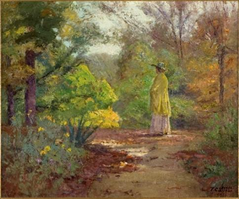 Selma and the Yellow Shawl by Theodore Clement Steele (1847-1926, United States) | ArtsDot.com