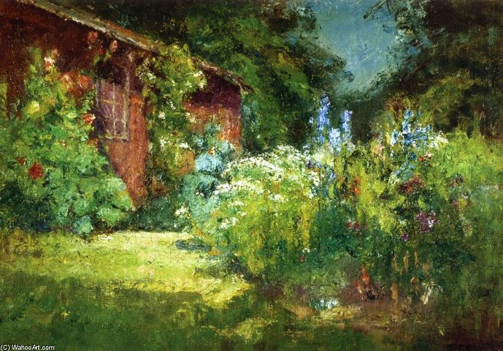 Selma's Garden, Oil On Canvas by Theodore Clement Steele (1847-1926, United States)
