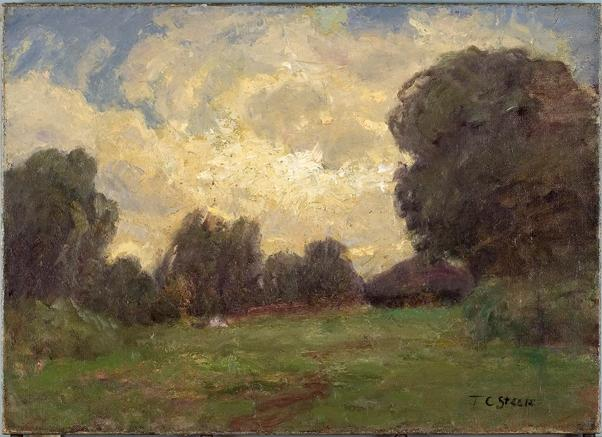 Storm Clouds (Late in the Day, The Home) by Theodore Clement Steele (1847-1926, United States)