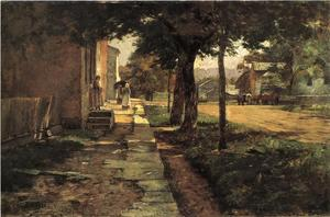 Theodore Clement Steele - Street in Vernon