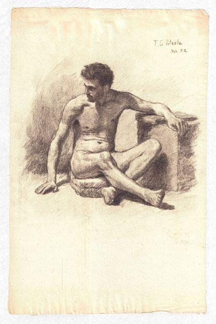 Study of a Male Nude 4 by Theodore Clement Steele (1847-1926, United States) | ArtsDot.com