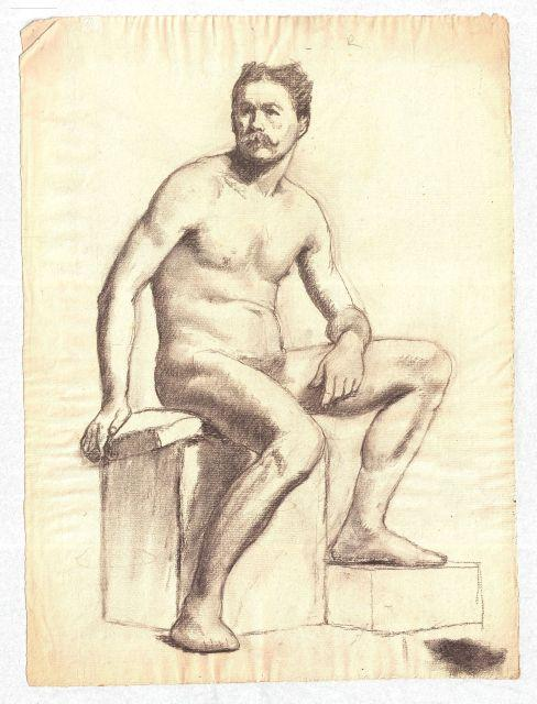 Study of a Male Nude 9 by Theodore Clement Steele (1847-1926, United States)