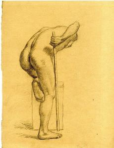 Theodore Clement Steele - Study of a male nude