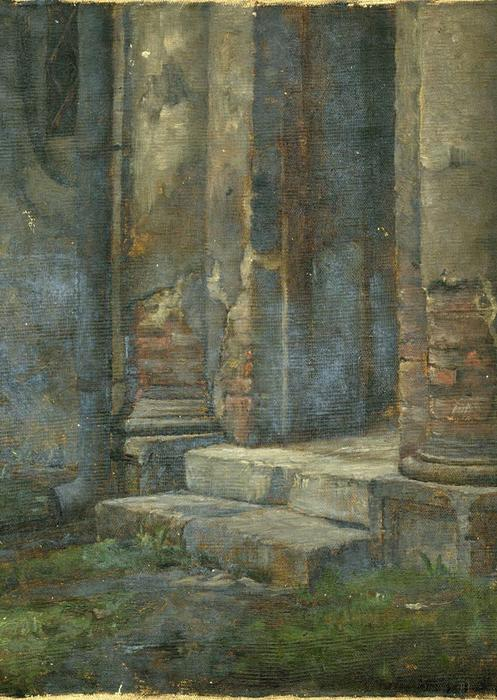 Study of Architectural Ruins by Theodore Clement Steele (1847-1926, United States)