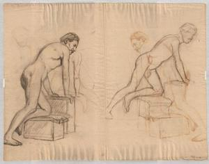 Theodore Clement Steele - Study of male nude 1