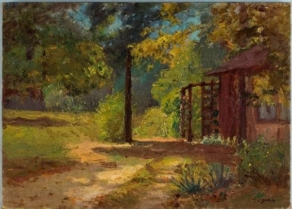 Summer Home (Brown County Road) by Theodore Clement Steele (1847-1926, United States) | Art Reproduction | ArtsDot.com
