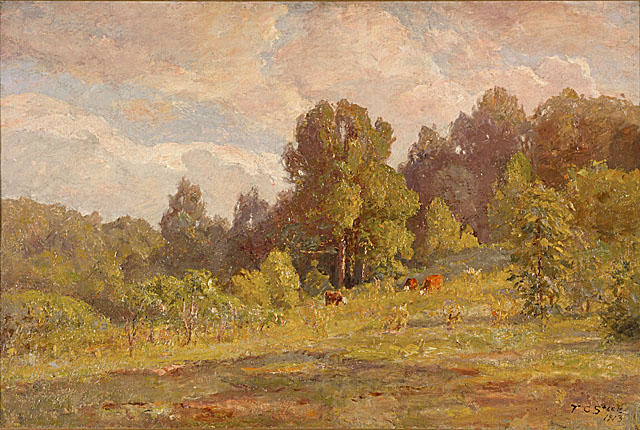 Sunlight, Late Summer by Theodore Clement Steele (1847-1926, United States)