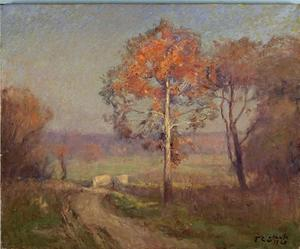 Theodore Clement Steele - Sycamores, Autumn (An Autumn Day)