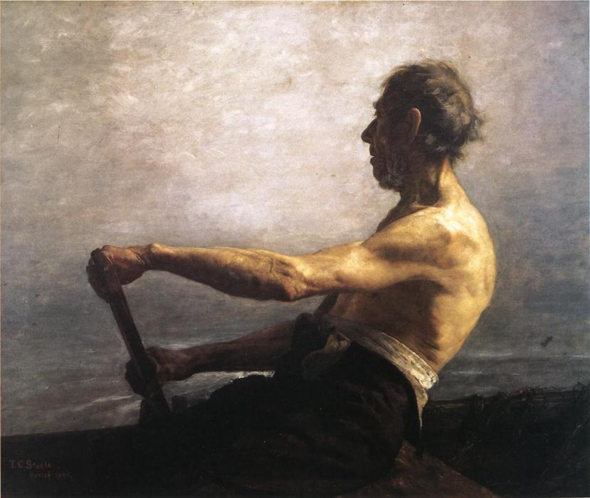 The Boatman by Theodore Clement Steele (1847-1926, United States) | Art Reproduction | ArtsDot.com