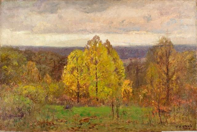 The Breaking Sky (Autumn, North Slope) by Theodore Clement Steele (1847-1926, United States) | ArtsDot.com