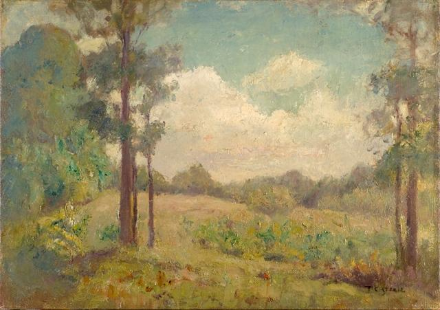The Clearing Under Summer Skies by Theodore Clement Steele (1847-1926, United States) | Oil Painting | ArtsDot.com