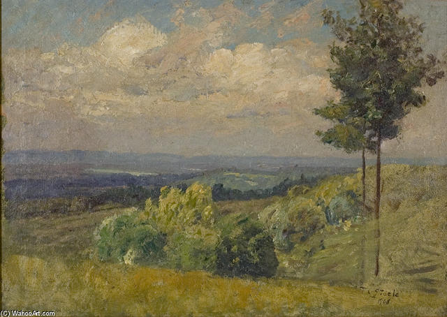 The Distant Hill from a Sunny Knoll by Theodore Clement Steele (1847-1926, United States) | ArtsDot.com