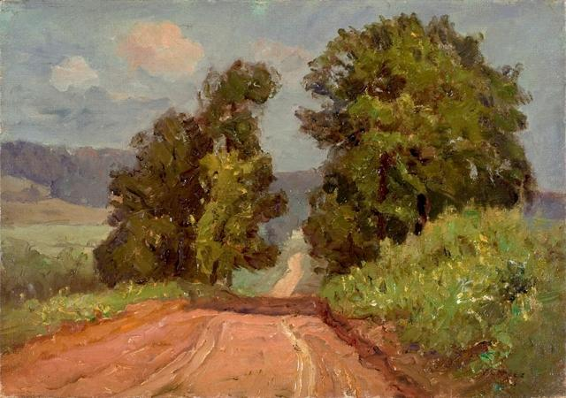 The Narrow Road by Theodore Clement Steele (1847-1926, United States)
