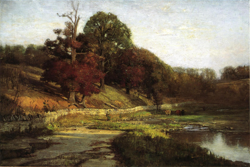 The Oaks of Vernon, 1887 by Theodore Clement Steele (1847-1926, United States) | Painting Copy | ArtsDot.com