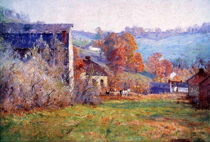The Old Mills, 1903 by Theodore Clement Steele (1847-1926, United States) | Painting Copy | ArtsDot.com