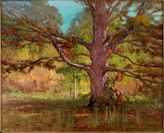 The Old Oak (Big Oak) by Theodore Clement Steele (1847-1926, United States)