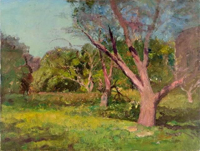 The Old Orchard by Theodore Clement Steele (1847-1926, United States) | Museum Art Reproductions | ArtsDot.com