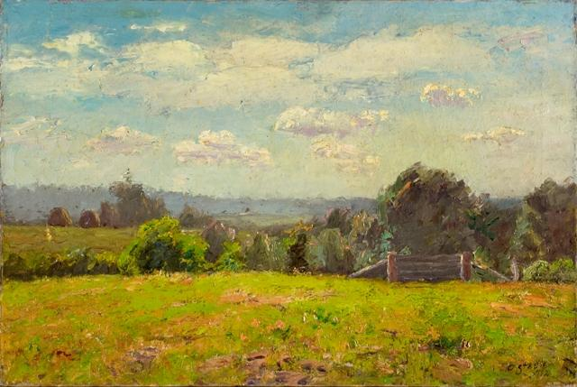 The Pasture and the Distant Hills by Theodore Clement Steele  (order Fine Art fine art print Theodore Clement Steele)