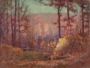 Theodore Clement Steele - The Ravine in Autumn