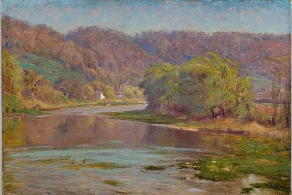 The River Valley by Theodore Clement Steele (1847-1926, United States) | Museum Quality Reproductions | ArtsDot.com