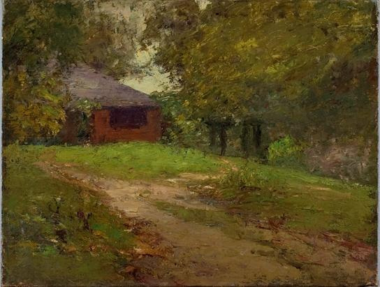 The Steele Home by Theodore Clement Steele (1847-1926, United States)