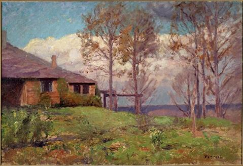The Steele Residence-Clouds, The Home by Theodore Clement Steele (1847-1926, United States) | Art Reproduction | ArtsDot.com