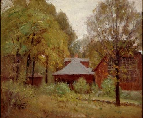 The Studio and Cottage by Theodore Clement Steele (1847-1926, United States) | ArtsDot.com