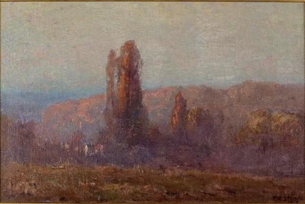 Trees in Autumn by Theodore Clement Steele (1847-1926, United States)