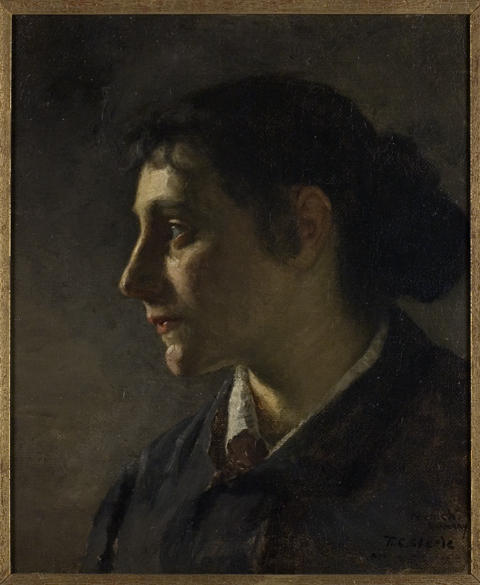 Unknown Munich Woman by Theodore Clement Steele (1847-1926, United States) | Painting Copy | ArtsDot.com
